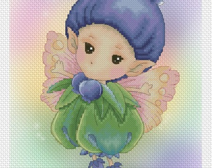 Blueberry Sprite Mitzi Sato-Wiuff - Cross stitch Chart Pattern