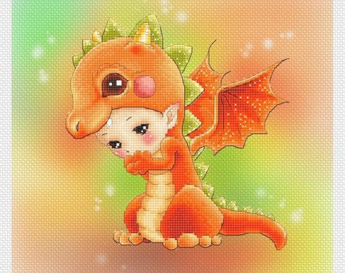 Dragon Baby Mitzi Sato-Wiuff - Cross stitch Chart Pattern