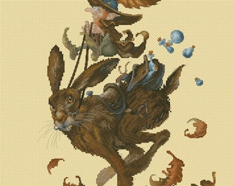 Cross Stitch Chart Urgent Delivery by Pascal Moguerou Fantasy Art