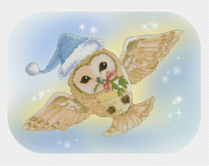 Christmas Owl Mitzi Sato-Wiuff - Cross stitch Chart Pattern