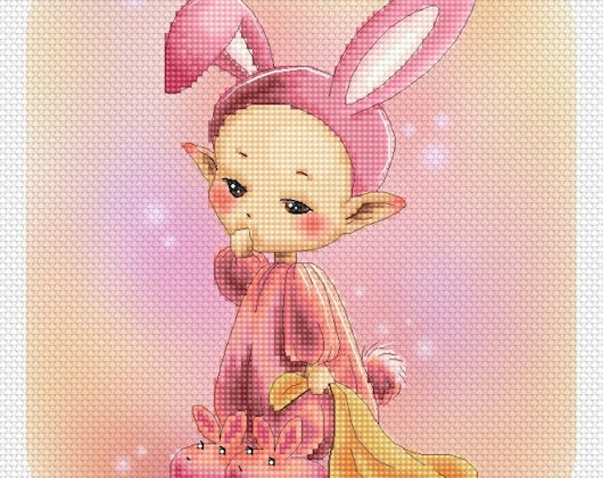 Sleepy Bunny Mitzi Sato-Wiuff - Cross stitch Chart Pattern
