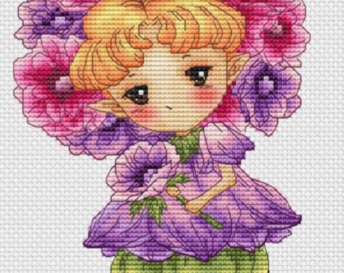 Anemone Sprite Mitzi Sato-Wiuff - Cross stitch Chart Pattern