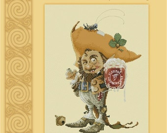 Cross Stitch Chart Goblin's Beer  - Art of Jean-Baptiste Monge