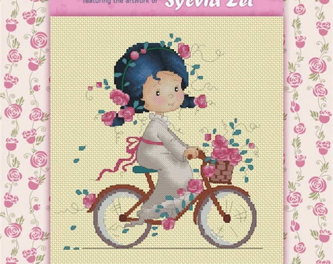 DISCONTINUED Rose by Sylvia Zet  - Cross Stitch Needlepoint Chart Pattern