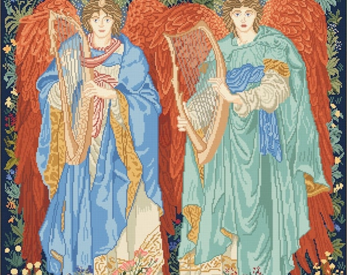 Angeli Laudantes Tapestry of William Morris / John Henry Dearle - Lena Lawson Needlearts