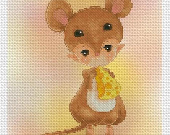 Mouse Baby Mitzi Sato-Wiuff - Cross stitch Chart Pattern