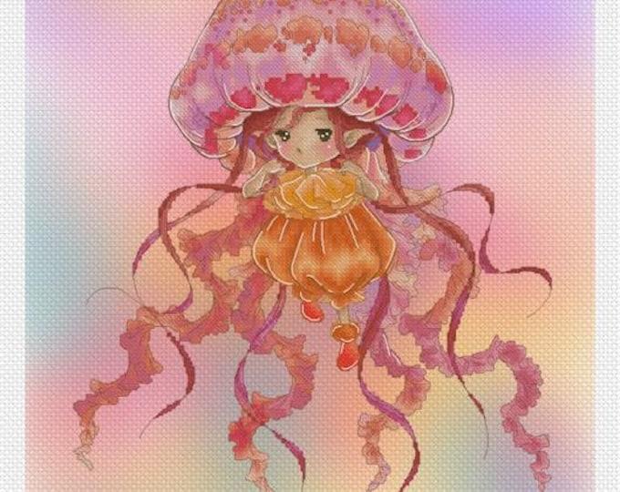 Jelly Fish Sprite Mitzi Sato-Wiuff - Cross stitch Chart Pattern