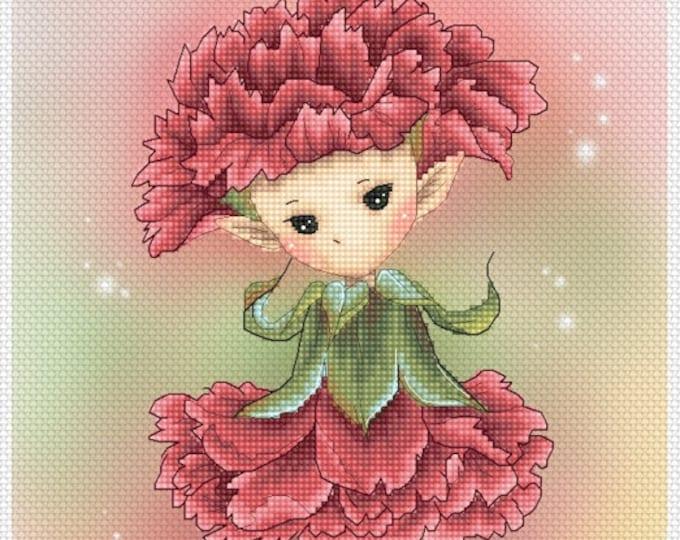 Carnation Sprite Mitzi Sato-Wiuff - Cross stitch Chart Pattern