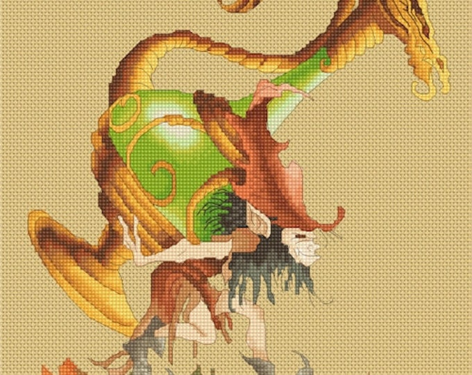 Cross Stitch Chart Finders Keepers by Pascal Moguerou Fantasy Art