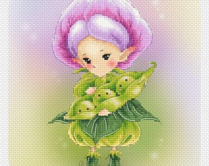 Soybean Sprite Mitzi Sato-Wiuff - Cross stitch Chart Pattern