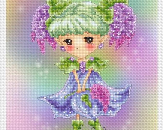 Lilac Sprite Mitzi Sato-Wiuff - Cross stitch Chart Pattern