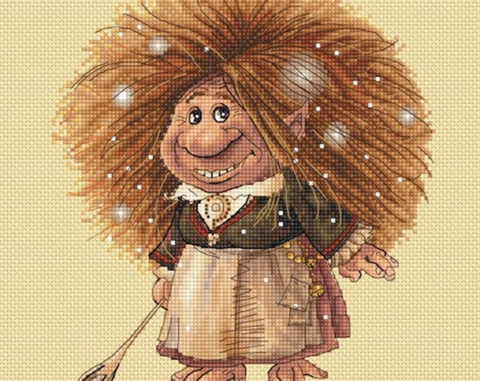 Cross Stitch Chart Cookie the House Pixie  by Jean-Baptiste Monge