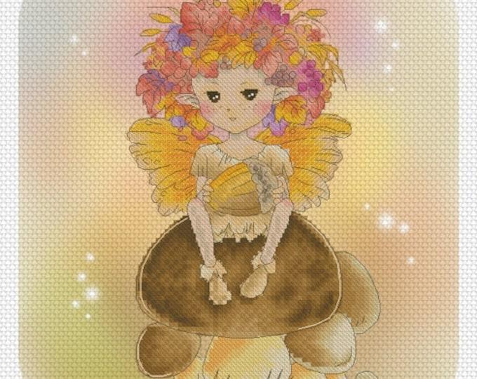 Autumn Fae Sprite Mitzi Sato-Wiuff - Cross stitch Chart Pattern