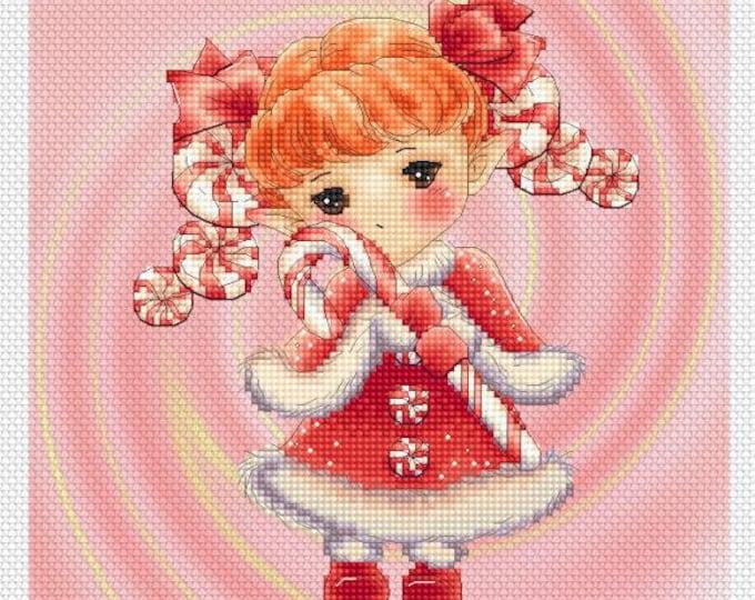 Christmas Mints Sprite Mitzi Sato-Wiuff - Cross stitch Chart Pattern