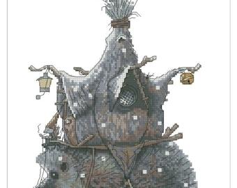 Cross Stitch Chart Goblin Hedgehog house - Art of Jean-Baptiste Monge