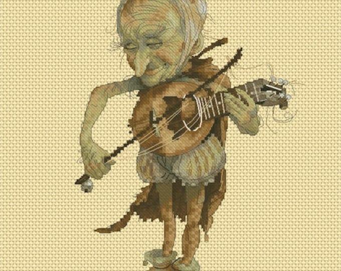 Cross Stitch Chart Old Ukulele by Jean-Baptiste Monge
