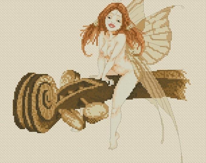 Cross Stitch Chart Pascal Moguerou Fairy on Violin Fantasy Art