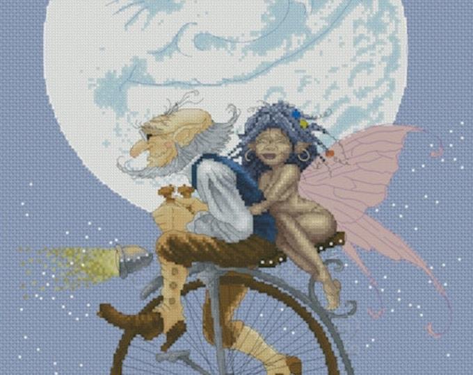 Cross Stitch Chart Happy Ride by Pascal Moguerou Fantasy Art