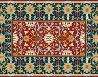 Needlepoint cross stitch William Morris Cushion or Rug Carpet Little Flowers