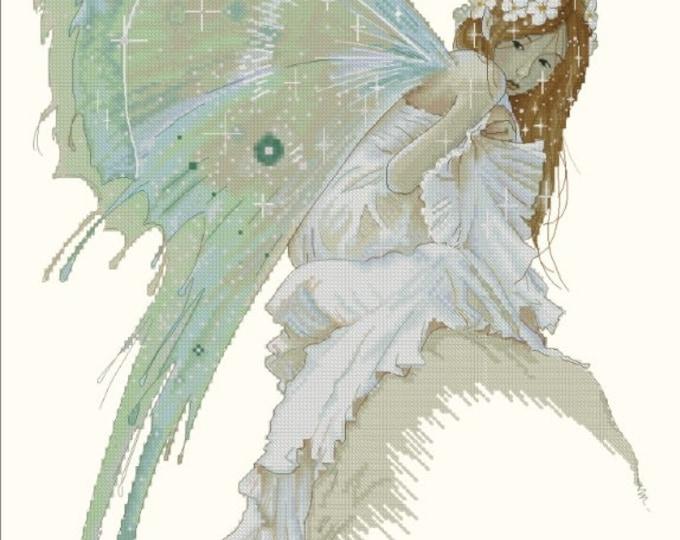 Cross Stitch Chart Bluebell by Jean-Baptiste Monge Fantasy