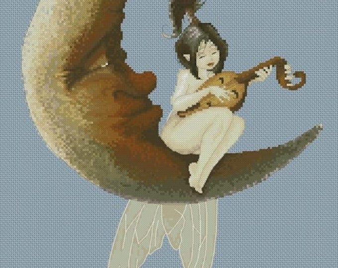 Cross Stitch Chart Moonlight Soinet by Pascal Moguerou