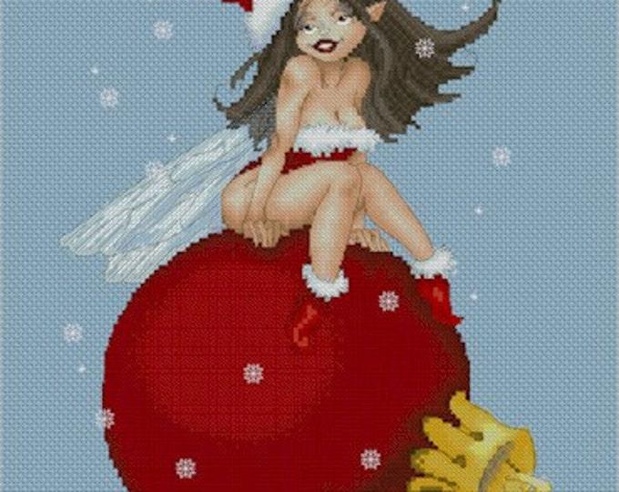 Cross Stitch Chart Santa's Helper by Pascal Moguerou Fantasy Art