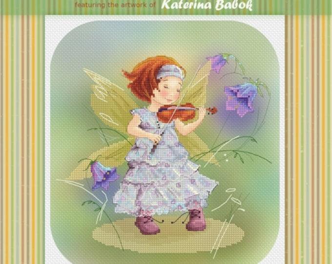 Fairy with Violin - Katerina Babok Girls Cross Stitch and Needlepoint Chart Pattern