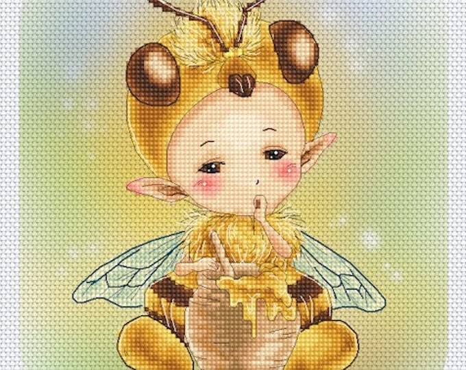 Honey Bee Sprite by Mitzi Sato-Wiuff - Cross stitch Chart Pattern