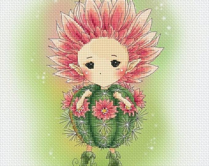 Cactus Sprite Mitzi Sato-Wiuff - Cross stitch Chart Pattern