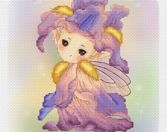 Iris Sprite Mitzi Sato-Wiuff - Cross stitch Chart Pattern