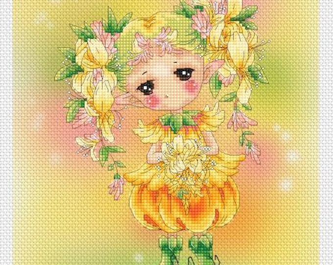 Honeysuckle Sprite Mitzi Sato-Wiuff - Cross stitch Chart Pattern