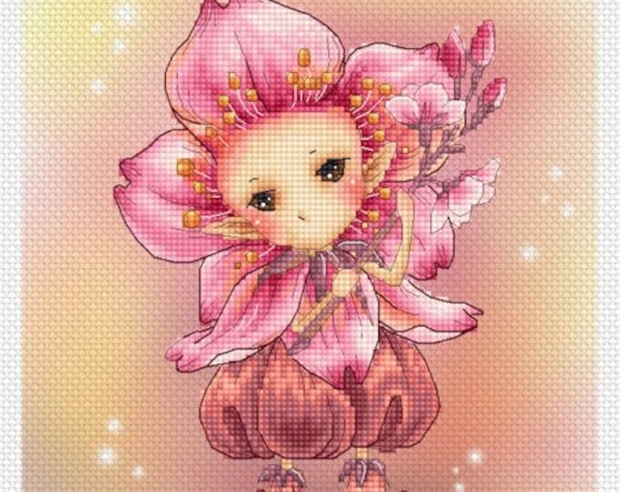 Cherry Blossom Sprite Mitzi Sato-Wiuff - Cross stitch Chart Pattern