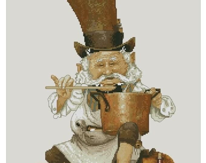 Cross Stitch Chart Goblin pharmacist Fantasy Series by Lena Lawson Needlearts - Art of Jean-Baptiste Monge