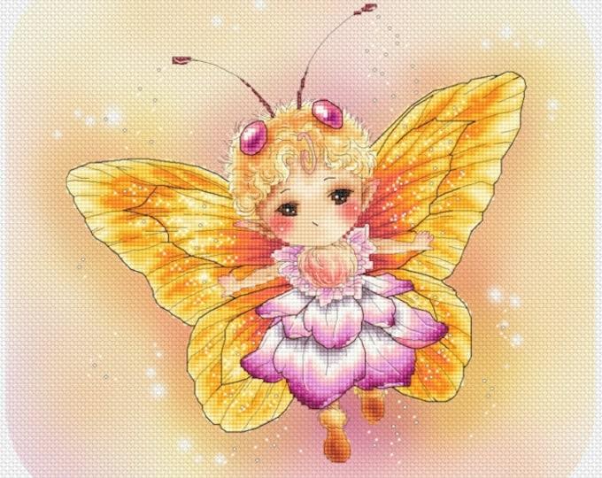 Butterfly Yellow Sprite Mitzi Sato-Wiuff - Cross stitch Chart Pattern