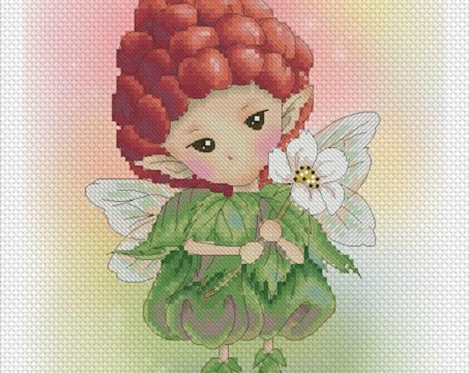 Raspberry Sprite Mitzi Sato-Wiuff - Cross stitch Chart Pattern