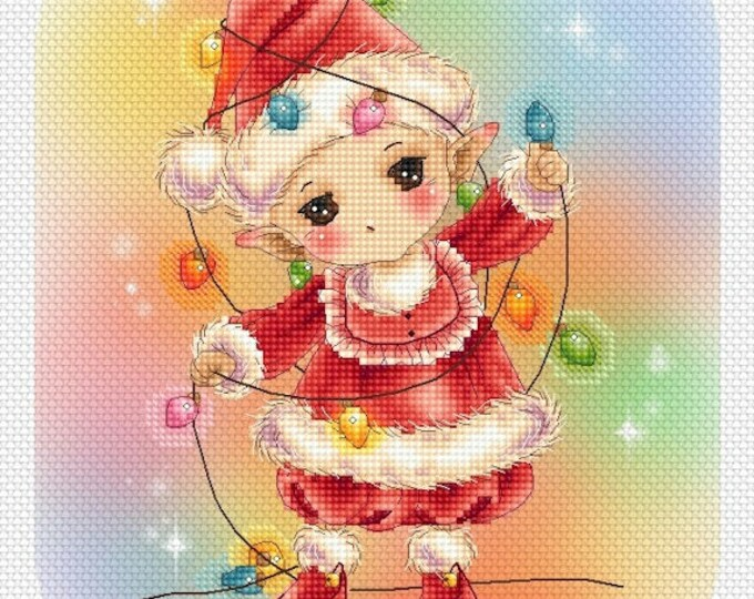 Fairy Lights Garland Mitzi Sato-Wiuff - Cross stitch Chart Pattern