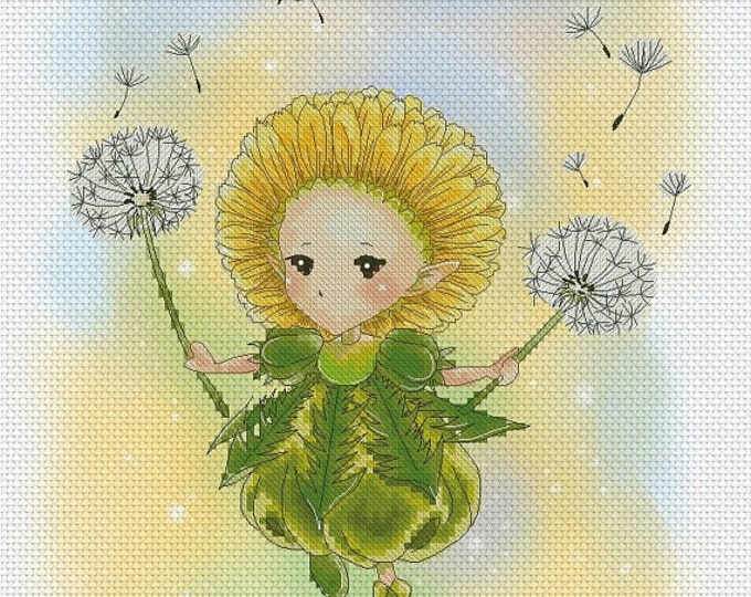 Dandelion Sprite Mitzi Sato-Wiuff - Cross stitch Chart Pattern