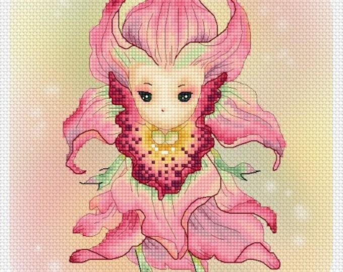 Orchid Sprite Mitzi Sato-Wiuff - Cross stitch Chart Pattern