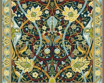 Needlepoint Cross stitch Cushion William Morris Bullerswood chart