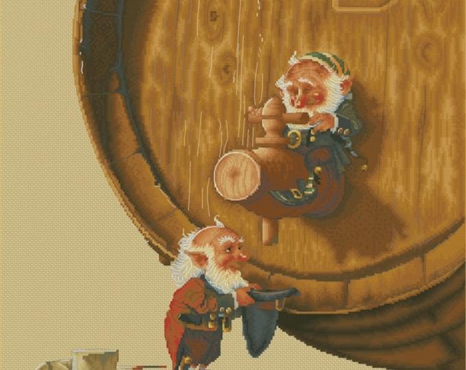Cross Stitch Chart Two Gnomes Just a Smidgen by Jean-Baptiste Monge