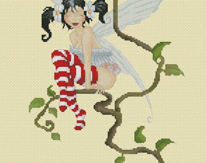 Cross Stitch Chart Fairy by Pascal Moguerou Fantasy Art