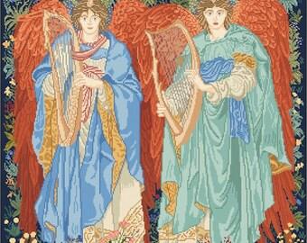 Angeli Laudantes Tapestry of William Morris / John Henry Dearle - Lena Lawson Needlearts
