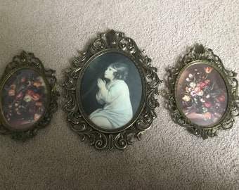 Oval Ornate Picture frames set of 3