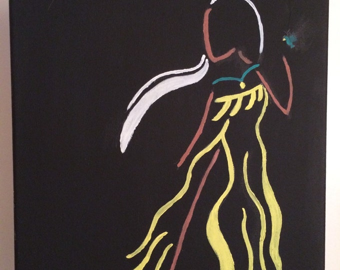 Pocahontas disney princess, acrylic paint, disney art, present for any age, christmas gift