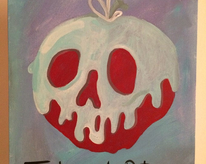 Snow white apple disney princess, acrylic paint, disney art, present for any age, christmas gift