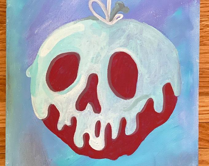 Snow white apple disney princess, acrylic paint, disney art, present for any age, christmas gift