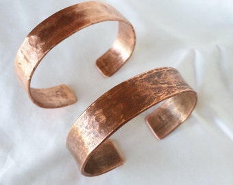 Bracelet - Copper cuff -hammered - sustainable-
