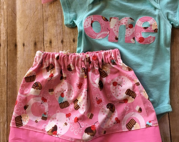 pink cupcake girls birthday shirt, cherry on top one mint green pink cupcake girl birthday shirt 1 pink, pinkalicious, cupcake ready to ship