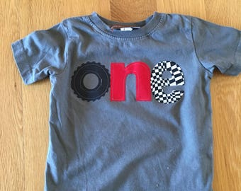 Racecar birthday shirt, one 1st birthday monster truck wheel birthday, boys birthday shirt, wheel race car, checkered race flag, boys birthd