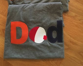 Dad fishing bobber shirt, parent coordinating fishing bobber shirt, mom birthday party matching shirt, dad fishing bobber shirt, dad mom